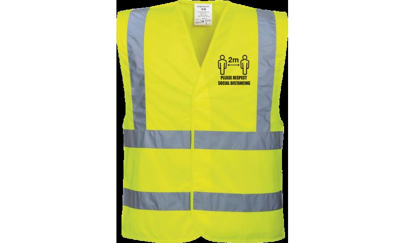 Hi-Vis Social Distance Vest, Adults, Extra Large