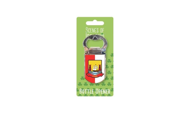 Cork Bottle Opener - Crest Design