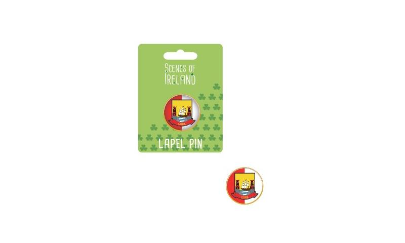 Cork County Crest Lapel Pin