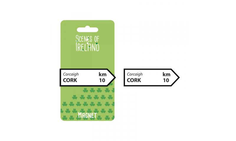 Cork Roadsign Magnet
