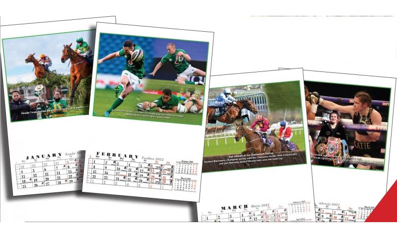 Ireland Sporting Memories A3 Monthly Wall Calendar 2022