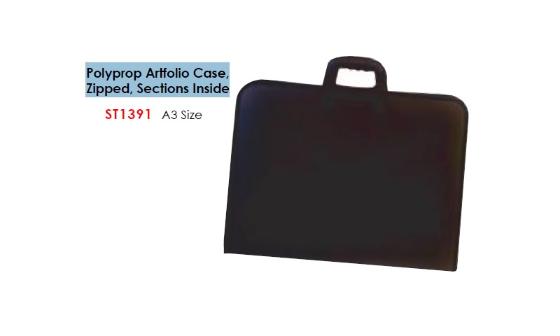Artists A3 Polyprop Artfolio Case, Zipped, Sections Inside: (New Lower Price for 2021)