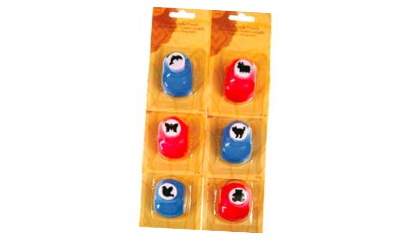 Craft with Fun Animal Shaped Punches, 12 Asstd, Carded: On Special Offer