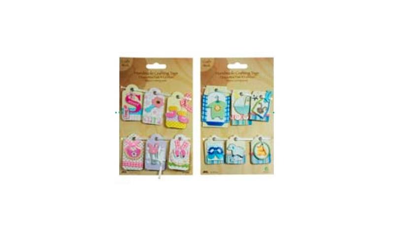 Craft DIY Gift Tags, Baby Themes, 2 Asstd
