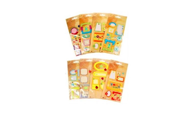 Handmade Craft 3D Stickers, 8 Asstd: On Special Offer