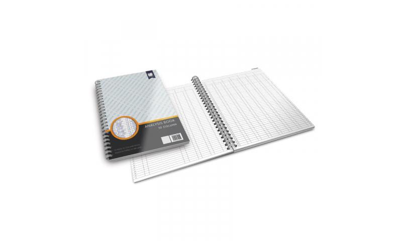 Standard Books  Wiro bound Accounts Analysis Book, 10 column (New Lower Price for 2021)