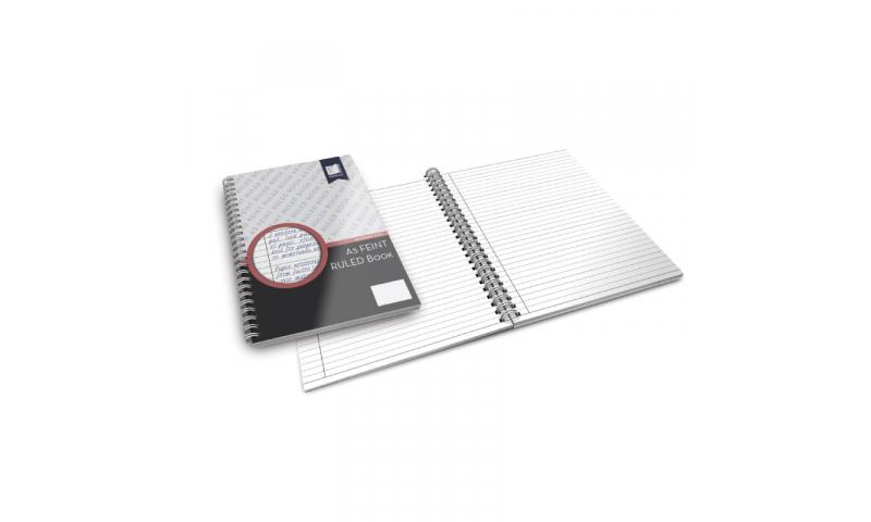 Standard Books  A5  Wiro Bound Feint Ruled Book