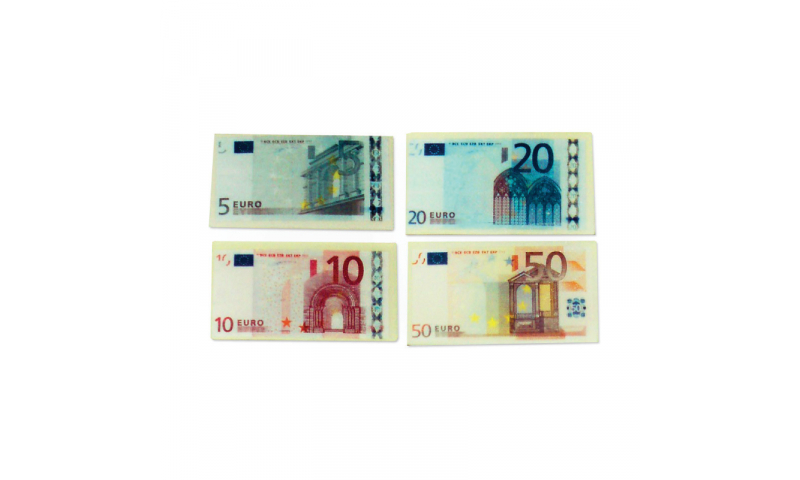 Novelty Euro Note Eraser, 4 Asstd (New Lower Price for 2021)