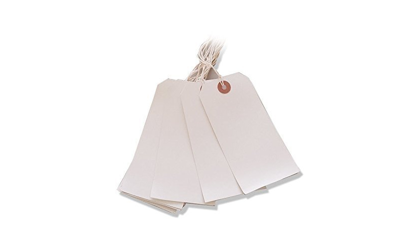 Ivy White Strung Tags 120 X 60mm, Box of 1000