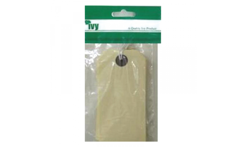 IVY Cream Luggage Tags 108x54mm - Hangpacks of 10 (New Lower Price for 2021)