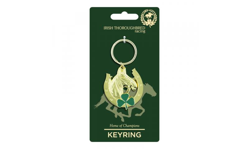 Thoroughbred Ireland Horseshoe Metal Keyring