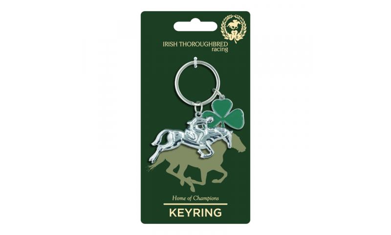 Thoroughbred Ireland Racehorse Metal Keyring