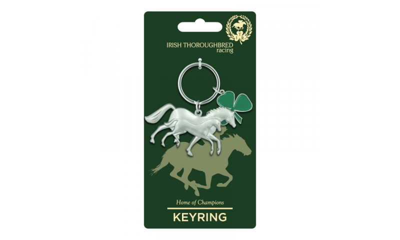 Thoroughbred Ireland Horse & Foal Metal Keyring