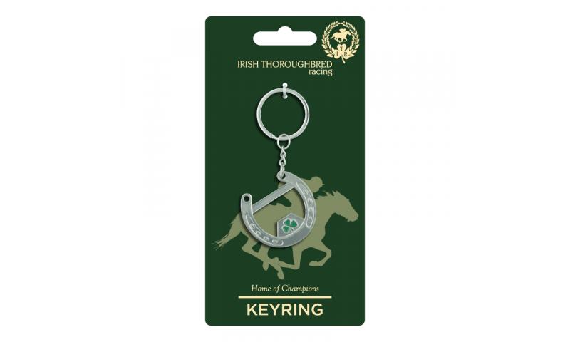 Thoroughbred Ireland Bottle Opener Horseshoe Metal Keyring