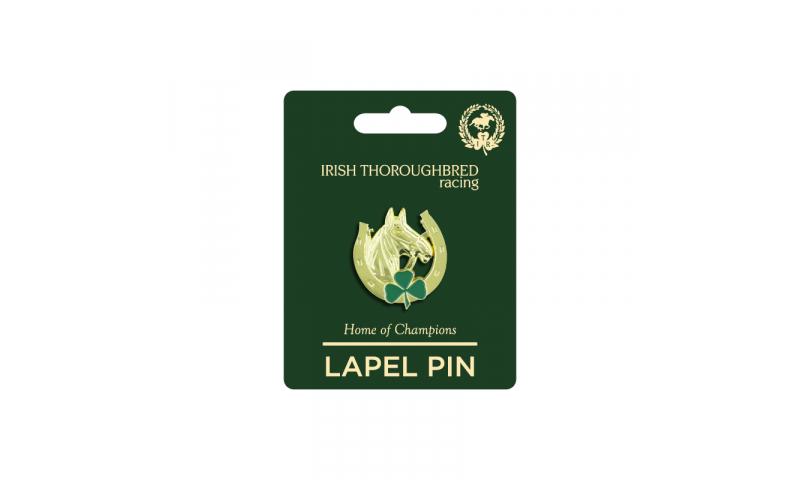 Thoroughbred Ireland Horseshoe Lapel Pin