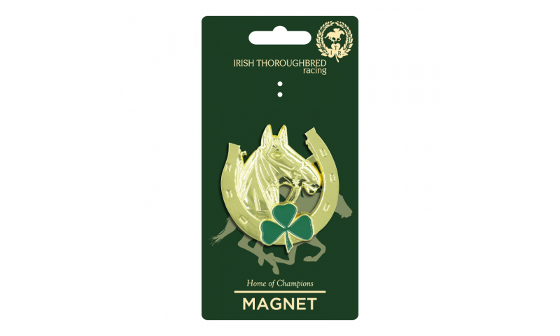 Thoroughbred Ireland Horseshoe Metal Magnet