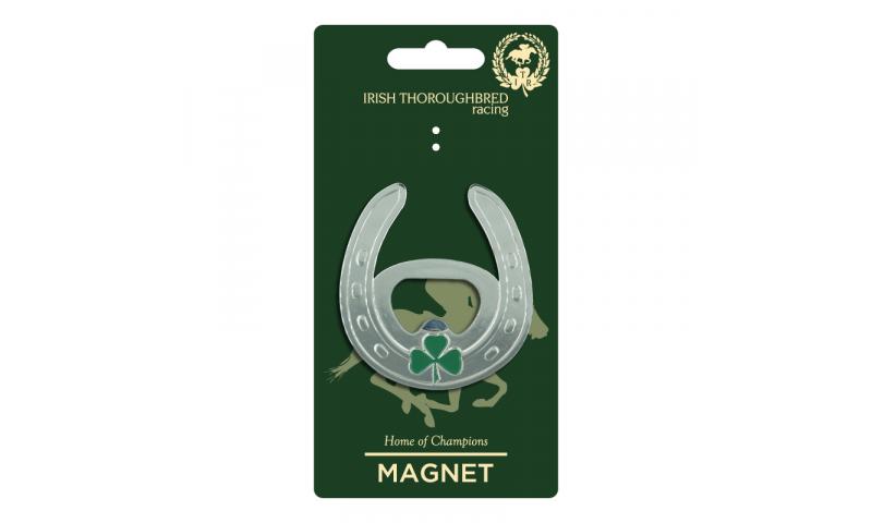 Thoroughbred Ireland  Horseshoe Metal  Bottle Opener Magnet