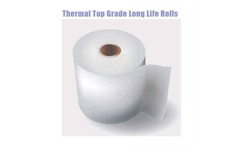 Thermal Top Grade Long Life Paper Rolls 57x57mm, 20 Box