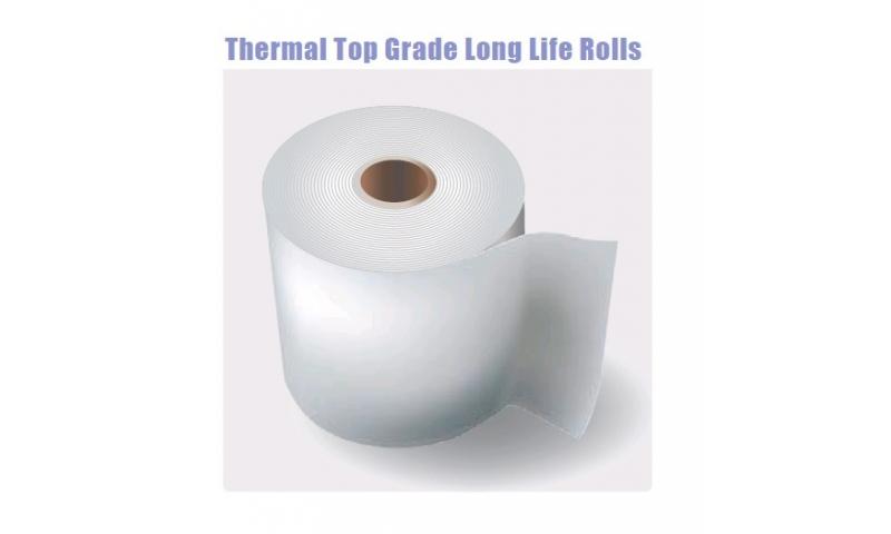 Thermal Top Grade Long Life Paper Rolls 44x80mm, 20 Box