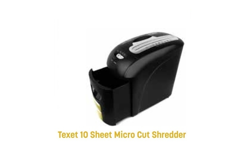 Texet Confetti Cut, Din 4 High Security Shredder, 10 Sheet, 12 Litre Bin (New Lower Price for 2021)