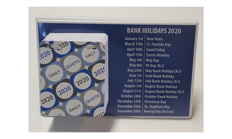 PVC Irish Daily Tear Off Calendar, 2022, Desk Standing, Motto's for every Day.