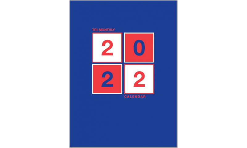 3 Month to View Shipping Calendar 2022, Print on Spiral Base board