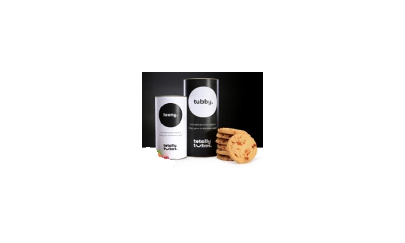 Bespoke Tube of Luxury Toffee Crunch Biscuits 200g