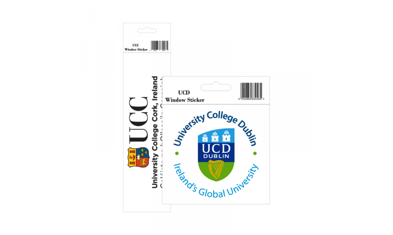 Oblong Window Sticker Full Colour - Hangpack & Barcode 14x7cm