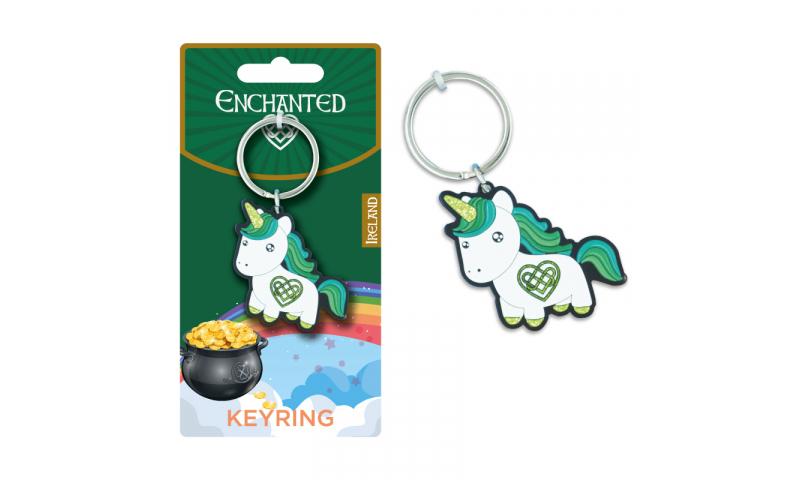 Unicorn Ireland Metal Keyring