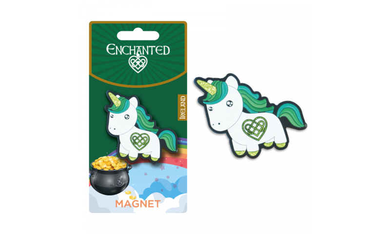 Unicorn Ireland Metal Magnet