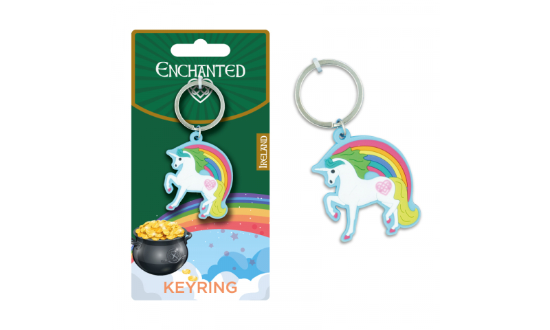Unicorn Ireland PCV Keyring