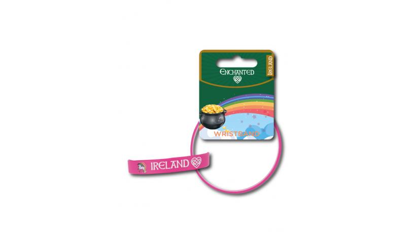 Unicorn Ireland PVC Wristband