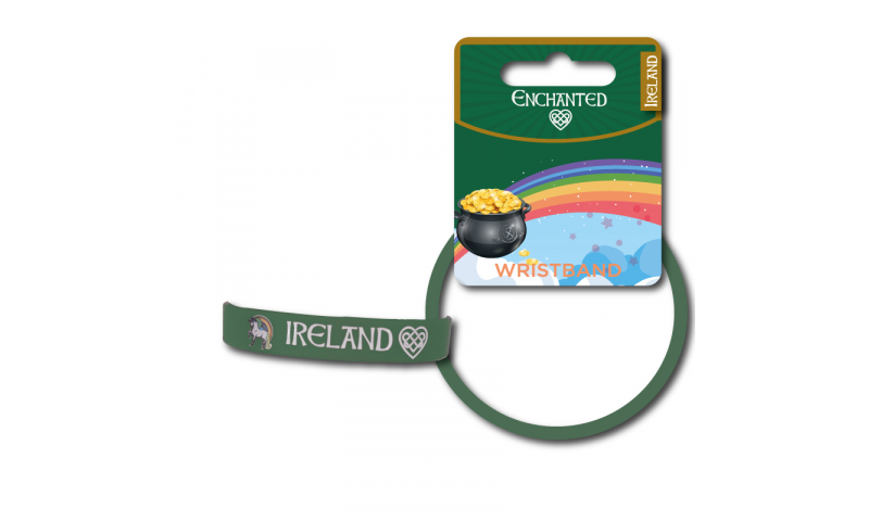 Unicorn Ireland PVC Wristband Green