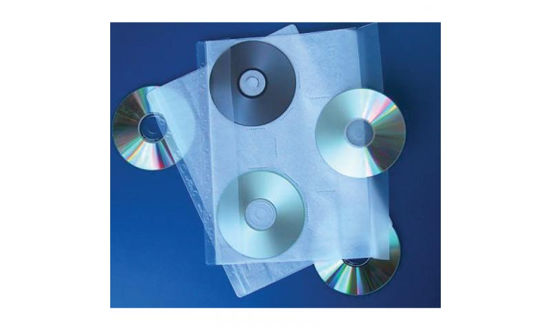 Flipfile Multipunched A4 DVD Storage Wallets, Holds 3 Disks, 10pk