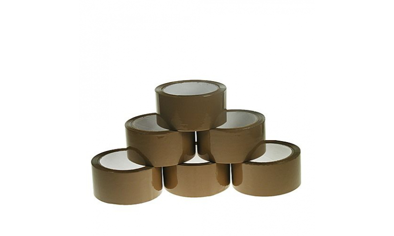 County Carton Sealing Tape Brown 48mm x 40m (New Lower Price for 2021)
