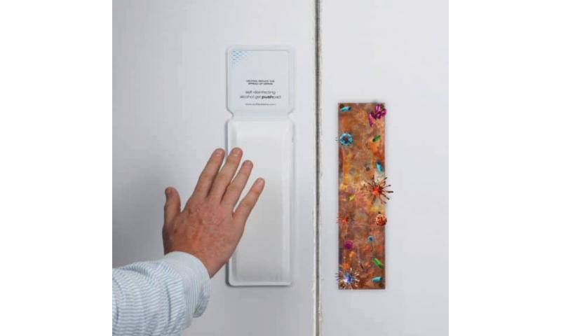 ViraBloc Door Push Pad Holder & Sanitising Refill
