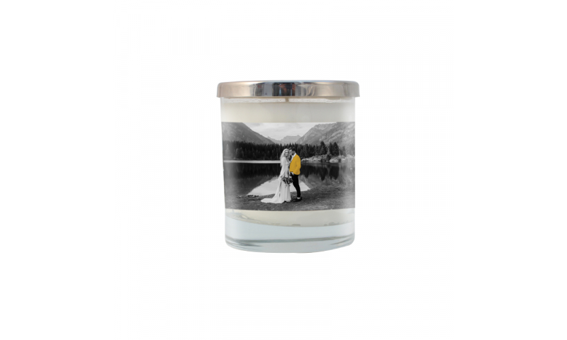Glass Scented Candle, Full Colour Wrap Branding