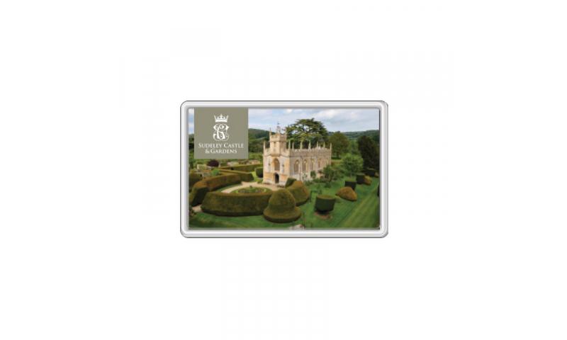 Acrylic Fridge Magnet/Photostand, 70x45mm - x2 Designs per 100 pcs