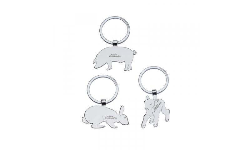 Animal Shaped Chomium Keyring, lazer engraved, 144pcs per design