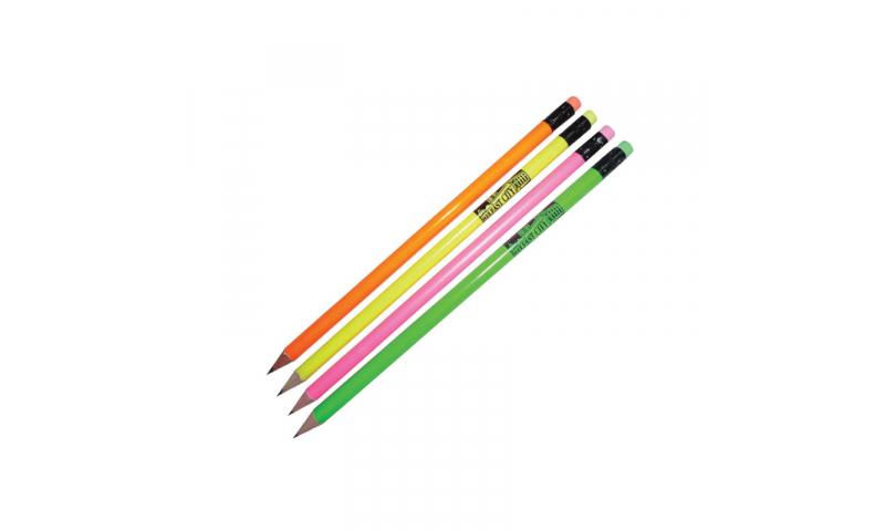 ZEST Neon Pencils with Matching Eraser, 1 col Print inc.