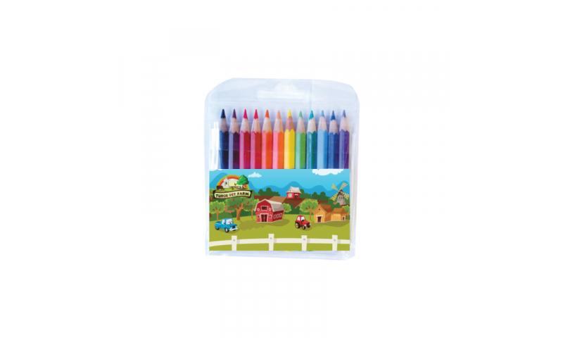 1/2 Size Colouring Pencil 12pk, Full Colour Print