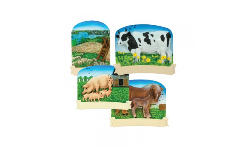 Farm Styles Asstd Resin Magnet, 1 col print inc.