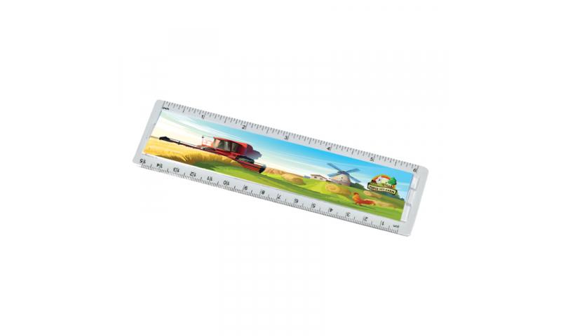 """Acrylic Ruler, 15cm/ 6"""", Full Colour"""