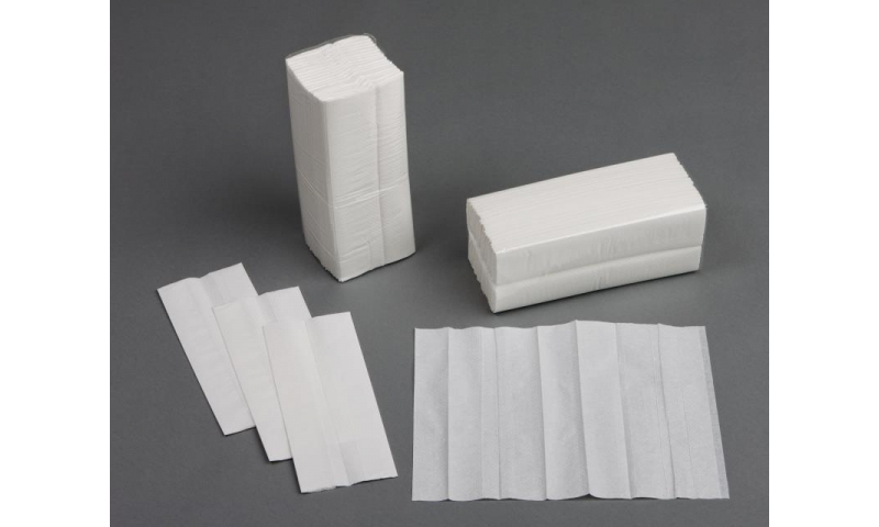 C-Fold 2 Ply White Disposable Hand Towels, 2400 per Case