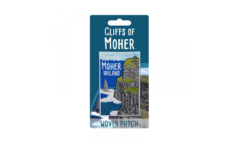 Cliffs of Moher Woven Iron on Patch