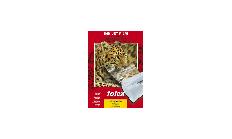 Folex Super Gloss White Film A4, Non Tear. Long Lasting, 20 Sheets: On Special Offer