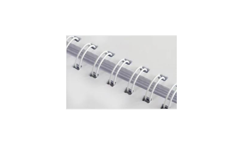 Wire Bindings A4 3.1 Gauge, 8mm, Size 5, White, Box of 250