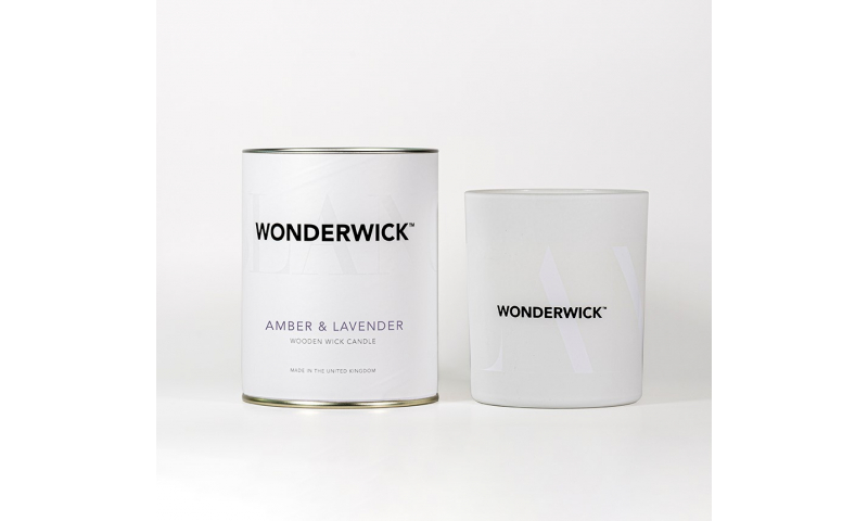 Country Candle Amber & Lavender Wonderwick™ Blanc Candle in Glass