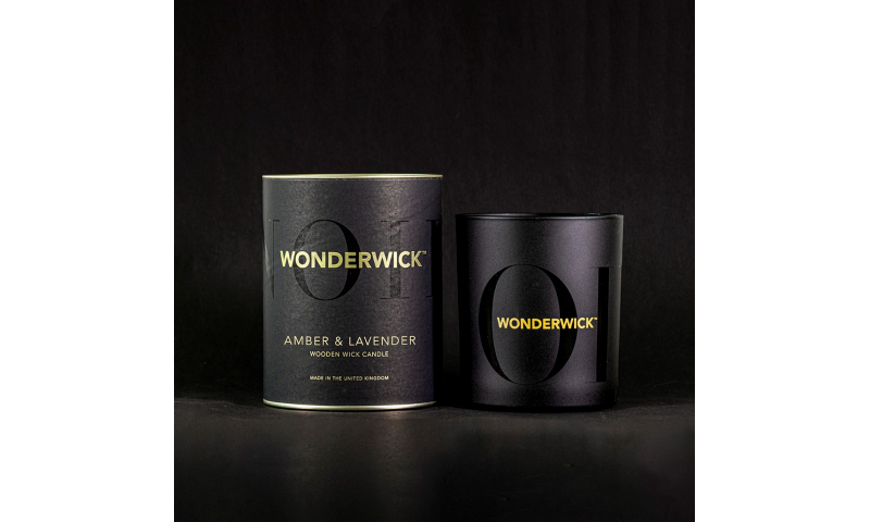 Country Candle Amber & Lavender Wonderwick™ Noir Candle in Glass