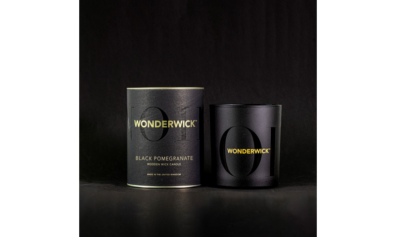 Country Candle Black Pomegranate Wonderwick™ Noir Candle in Glass